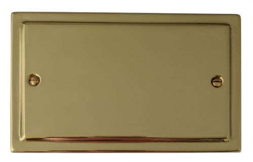 G&H TB32 Trimline Plate Polished Brass 2 Gang Double Blank Plate